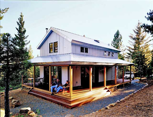 Relaxing Metal Building Cabin With Wrap Around Porch HQ Plans Amp Pictures