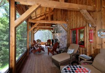 Rustic Barn Style Homes with Porch
