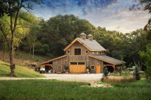 Horse Barn House Combination Plans