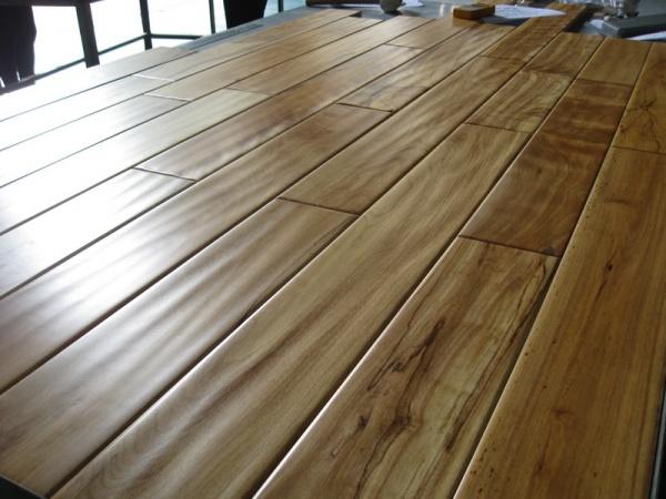 Handscraped hardwood golden birch prefinished flooring in for Instock flooring