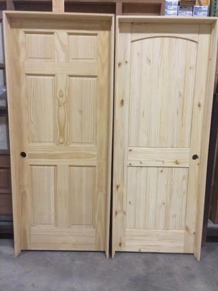 Pine Interior Doors Prehung 6 Panel And Knotty Pine