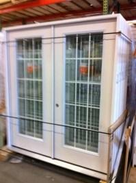 6ft french exterior door fiberglass grilles between the ...