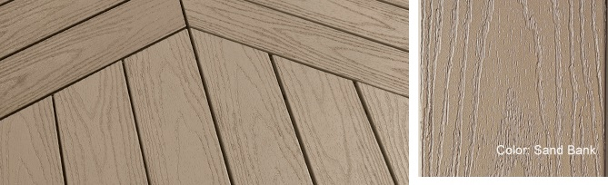 In stock pvc decking building materials supplies for Vinyl decking materials