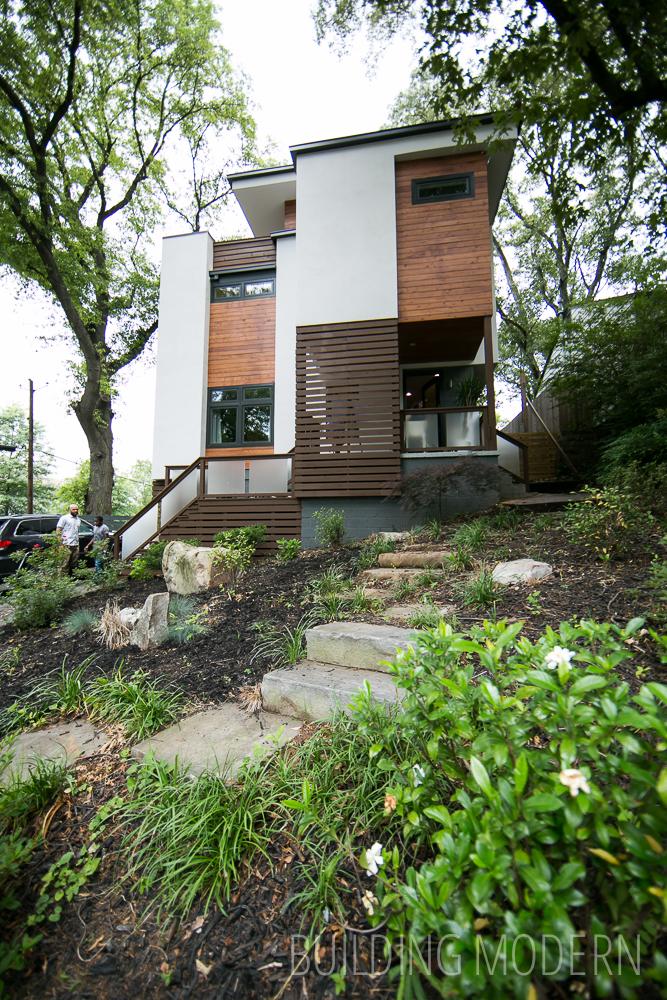hgtv modern living room blue decor for glenwood park atlanta home