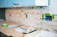 How to install a Carrara marble mosaic tile backsplash, part 1