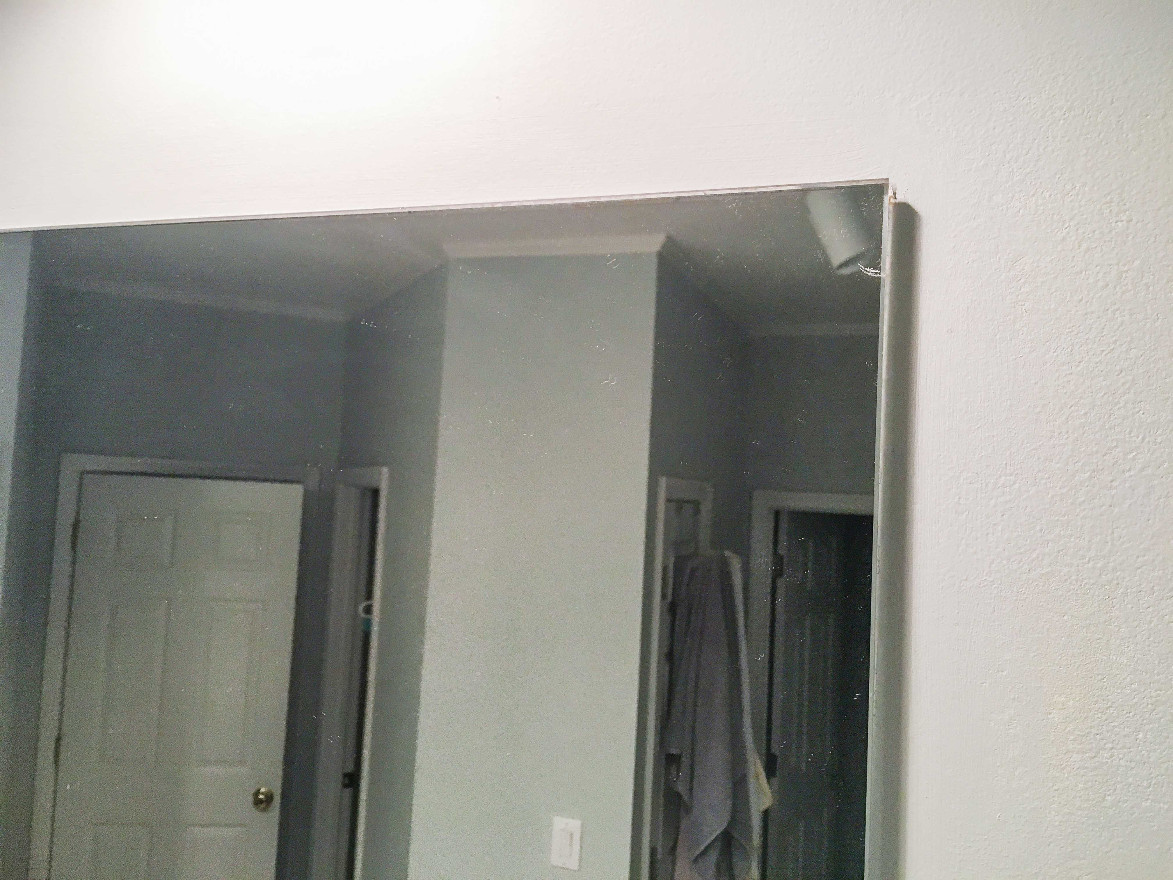 Glue Wood To Mirror Surface