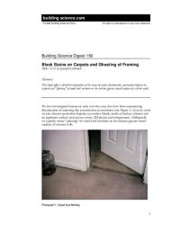 BSD-150: Black Stains on Carpets and Ghosting of Framing ...