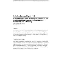 bsd 113 ground source heat pumps geothermal for residential heating and cooling carbon emissions and efficiency [ 791 x 1024 Pixel ]