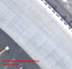 A Google Earth view of the concrete surface at Dover Interntional Speedway