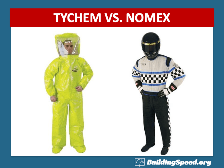 A biochemical safety suit and a firesuit may look similar, but they have totally different functions.
