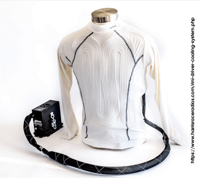 The Rini Technologies' coolsuit and microcooler. No ice required