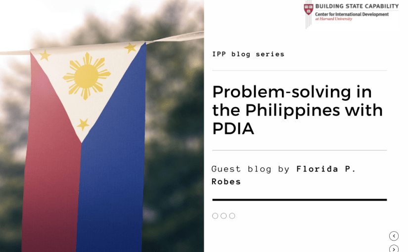 Resiliency amidst adversity: Applying PDIA in the Philippines