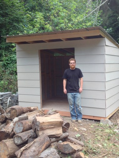 simple woodshed