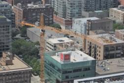 727 West Madison tower crane