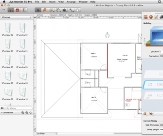 Floor plan view