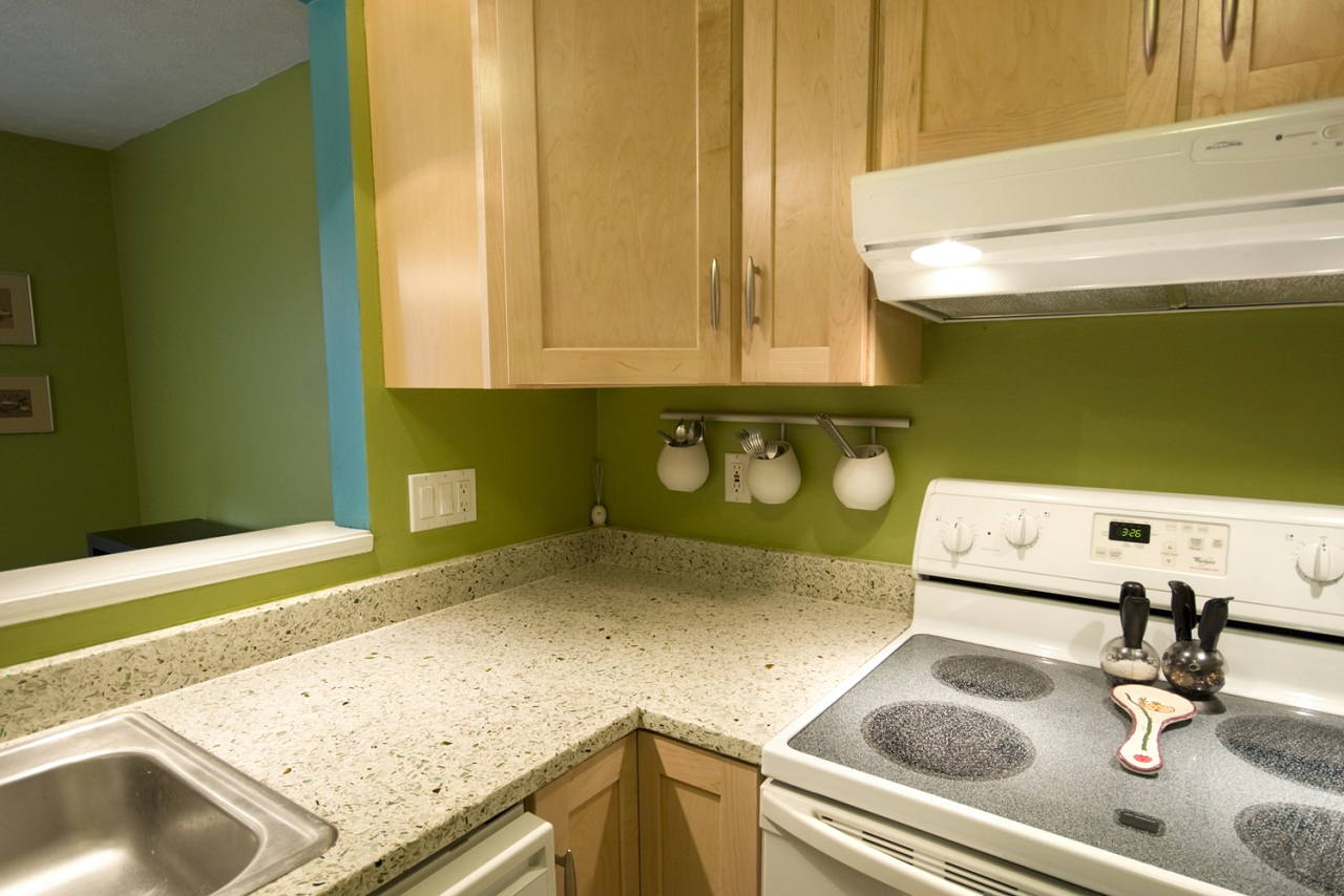 recycled glass kitchen countertops triangle table going green sustainable finishes buildipedia