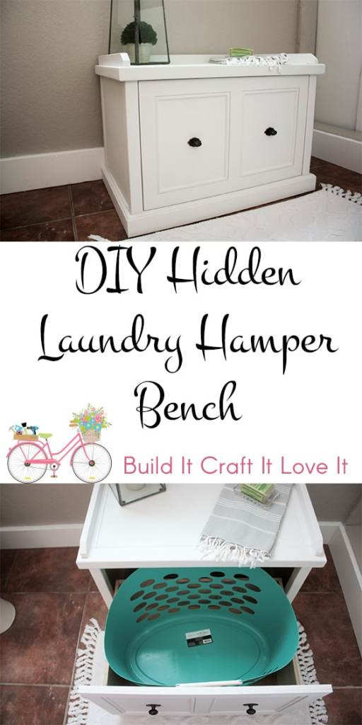 DIY Hidden Laundry Hamper Bench - Build It Craft It Love It