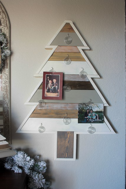 diy christmas tree card holder
