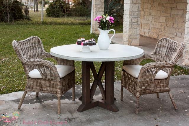 diy round outdoor table. DIY Round Concrete Table Top Diy Outdoor W