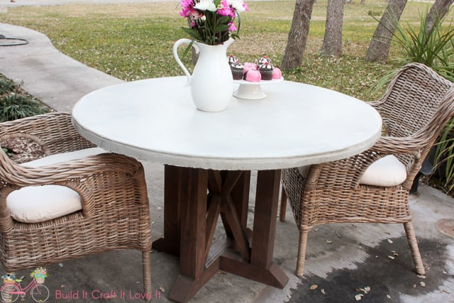 diy round outdoor table. DIY Round Concrete Table Top Diy Round Outdoor Table I