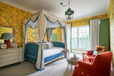 Yellow floral bedroom