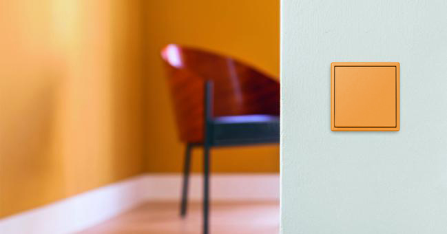 JUNG Switch Classic LS 990 in Orange Clair 32081, buildmumahouse, build mum a house, corbusier, light switch, big rocker