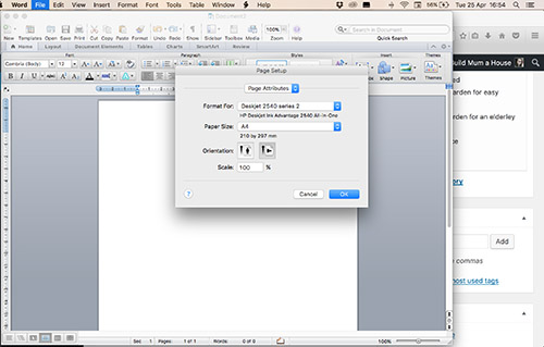 how to make document landscape in word
