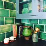 Having an emerald moment and fell in love clerkenwelldesignweek devolkitchenshellip