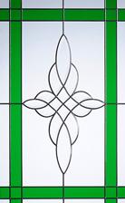 crystal harmony green glass