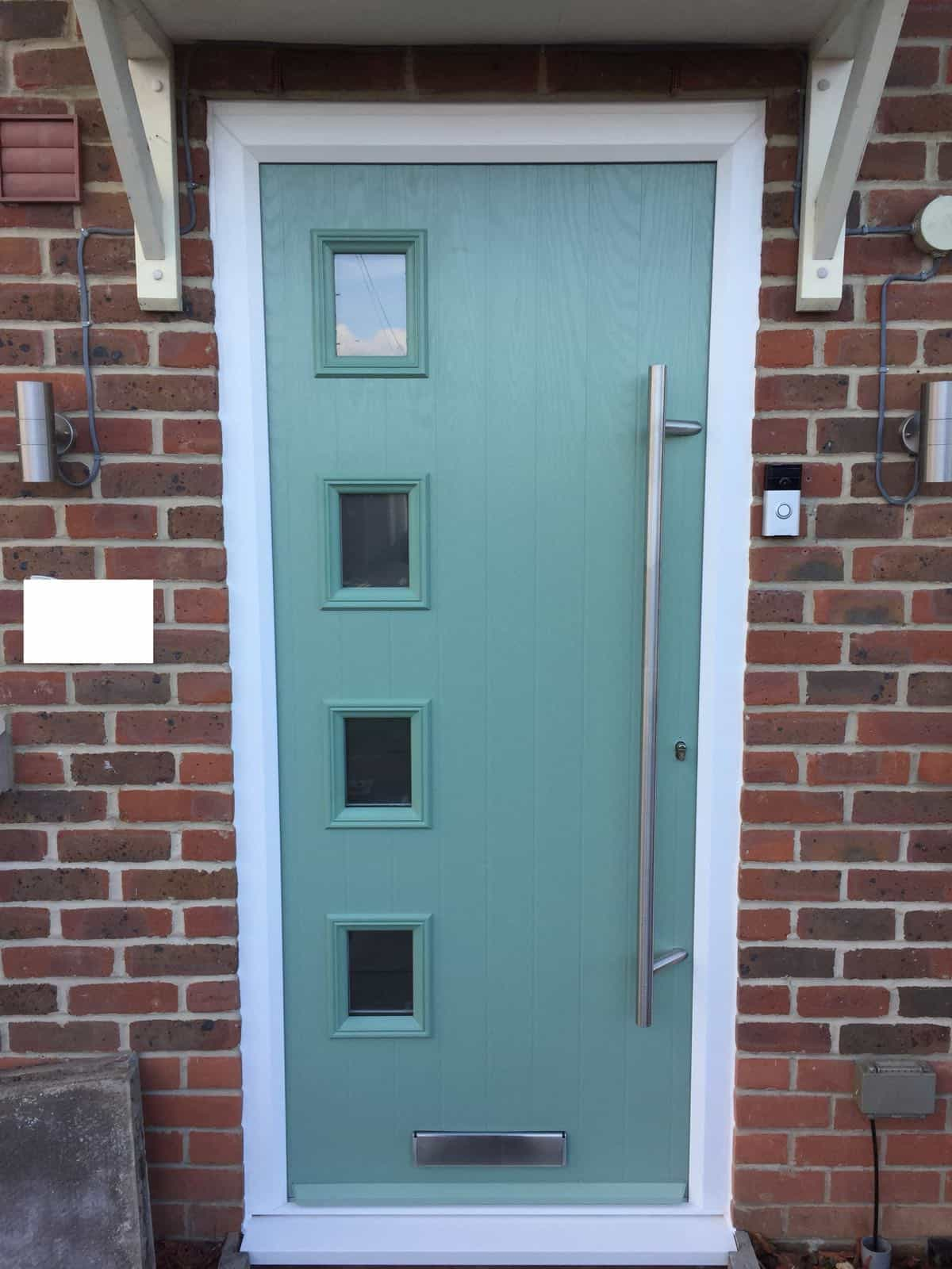 Chartwell Green 4 square composite door