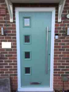 chartwell green 4 square composite front door fitted by buildmydoor
