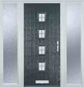 grey 4 square door with twin side panels