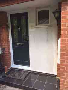 grey composite front door supplied and installed in Totton by Buildmydoor