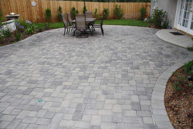 fixsinking interlocked pavers