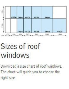 For the full size range please click image to link pdf file also velux windows buildrite ltd rh buildriteltd