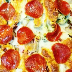Pizza Casserole!  Low Carb + Keto Friendly + Gluten Free
