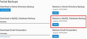 استعادة نسخة احتياطية لقاعدة بيانات MySQL