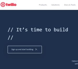 الخطوة الاولى Twillio
