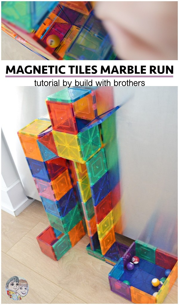 magnetic-tiles-marble-run-on-fridge-with-picasso-tiles-magna-tiles
