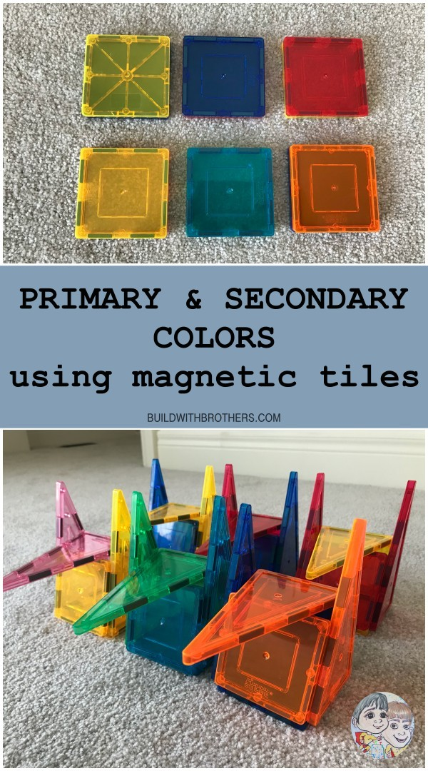 Read more about the article Primary colors secondary colors using magnetic tiles
