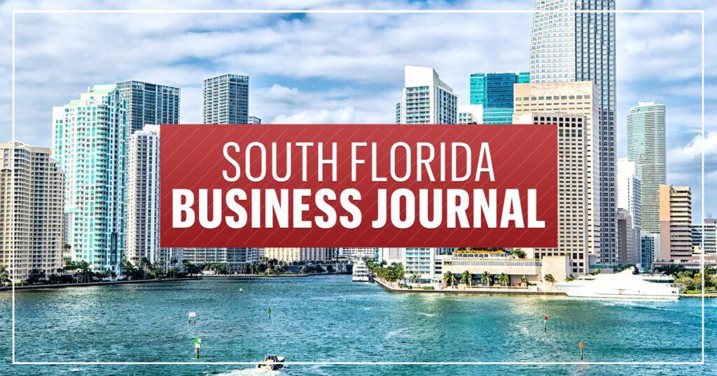 Miami Skyline with South Florida Business Journal Logo