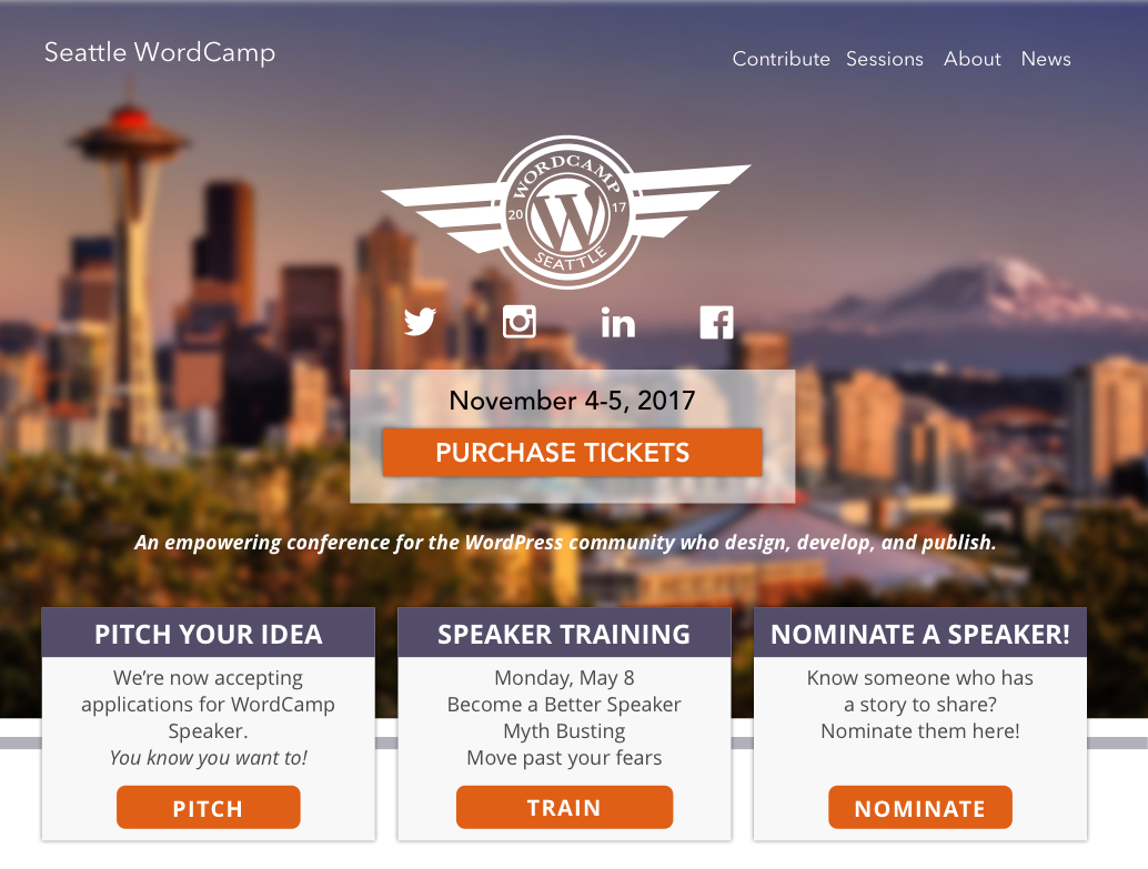 Seattle WordCamp: Website Design & Development
