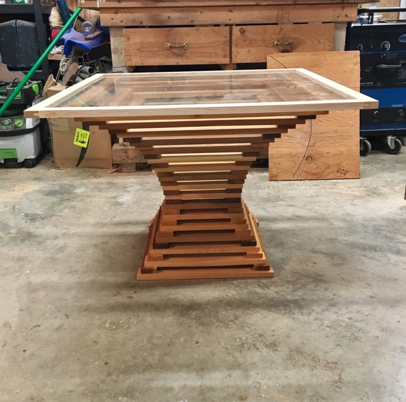 build details for custom designed table