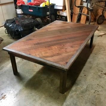 dark wood and metal fabrication custom local project