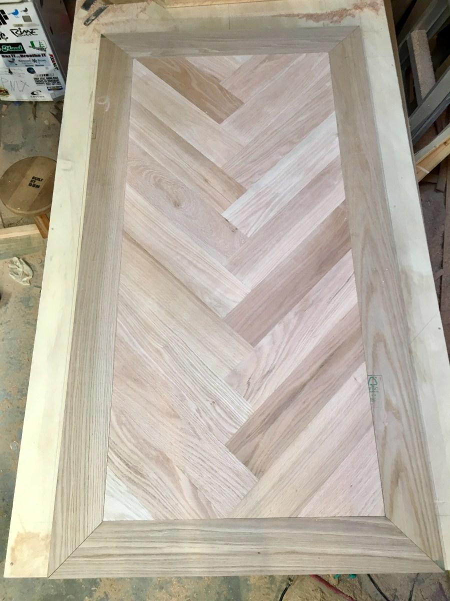 light wood custom table pattern