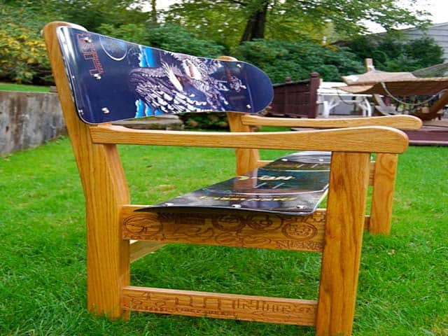 Build a Snowboard Bench Seat