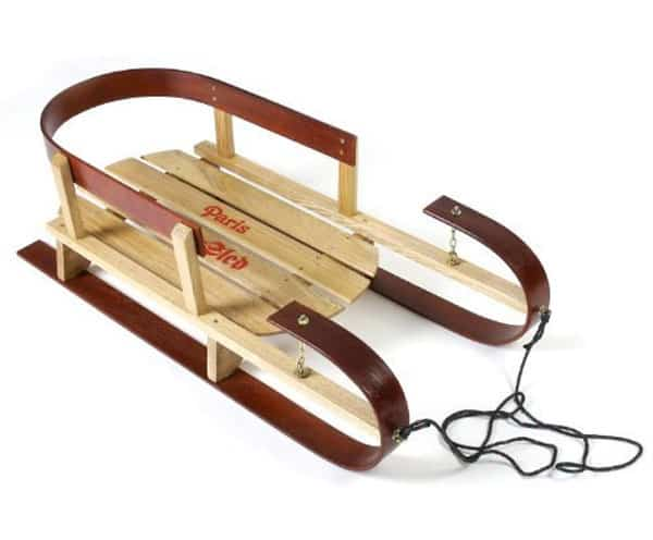 Classic Winter Wood Sleds For Kids Of All Ages