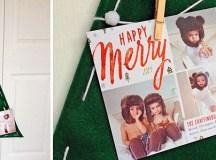 Make a Kid-Friendly Christmas Card Tree Display