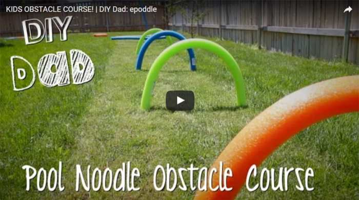 Pool Noodle Obstacle Course Diy Video Charles Amp Hudson