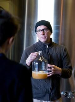 Chris explaining the cider making process